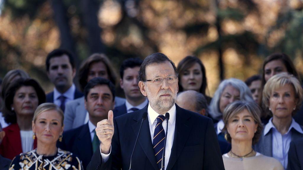Mariano Rajoy presentando la lista por Madrid