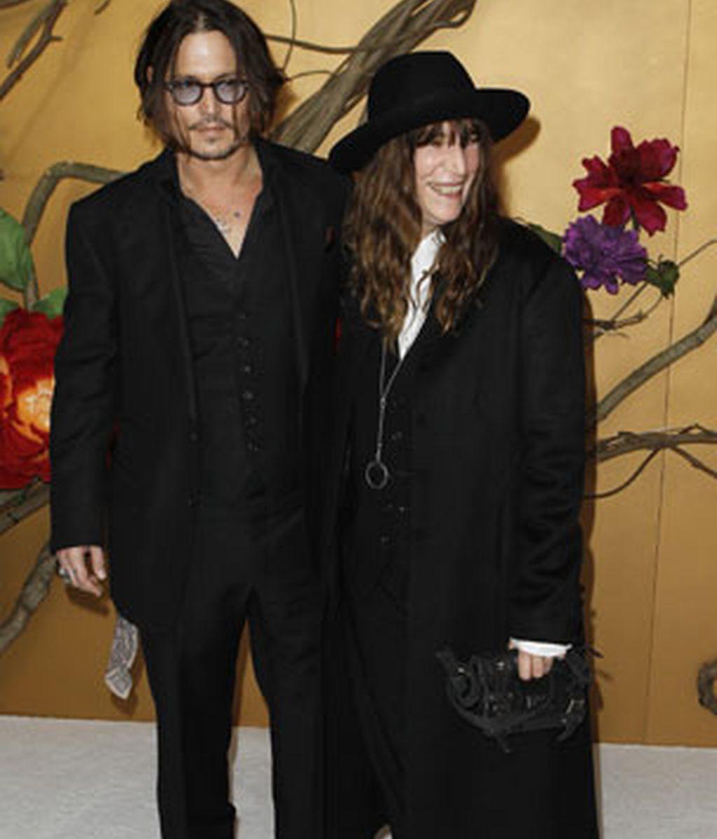 Johnny Depp y Patti Smith