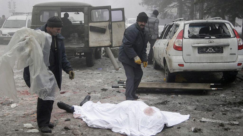 Bombardeos en Donetsk, Ucrania
