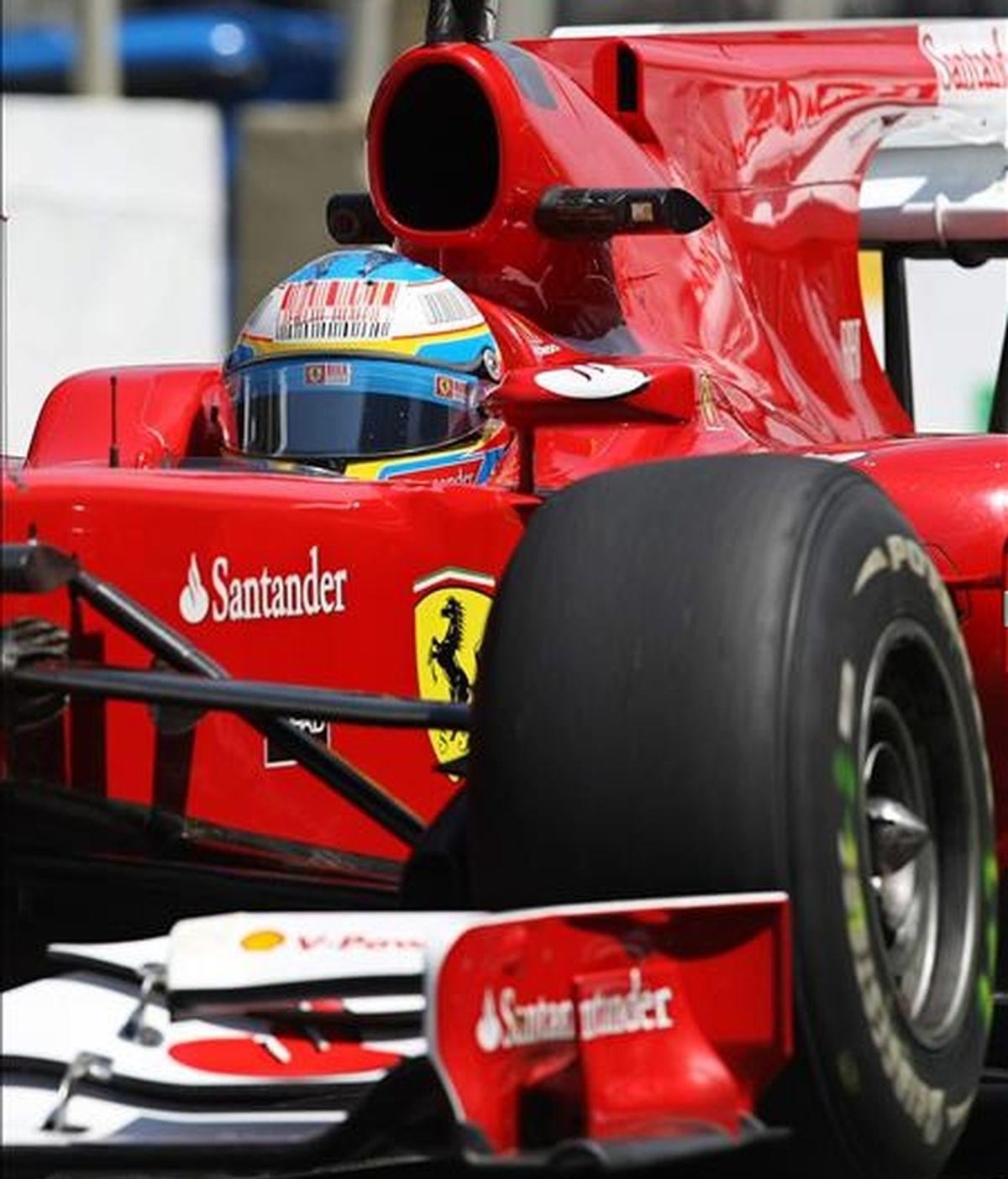 El piloto español Fernando Alonso, de la escudería Ferrari. EFE/Archivo