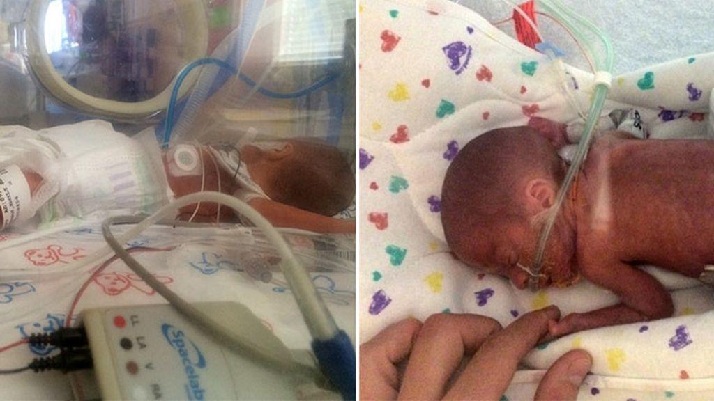 Da a luz a un niño prematuro de cinco meses en pleno crucero