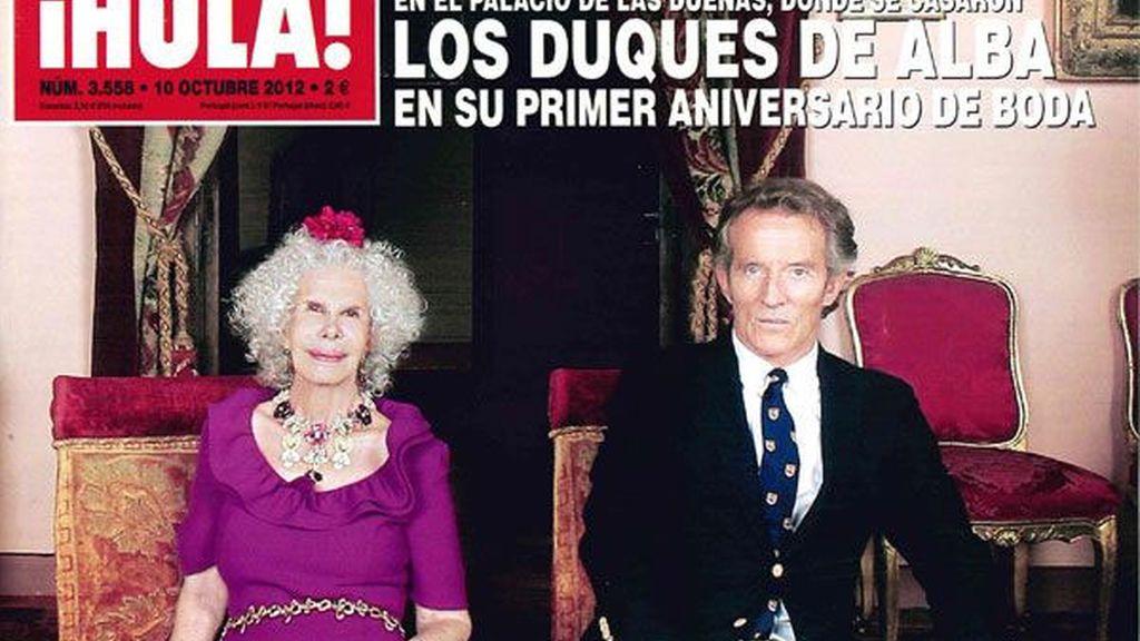 Cayetana de Alba y Alfonso Díez, un año de amor