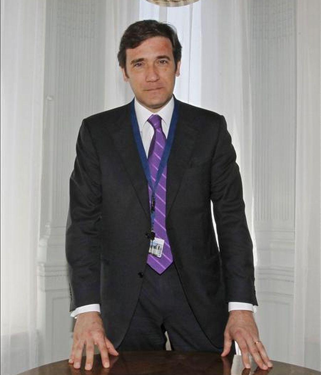 El presidente del Partido Social Democrata de Portugal y primer partido de la oposición, Pedro Passos Coelho. EFE/Archivo