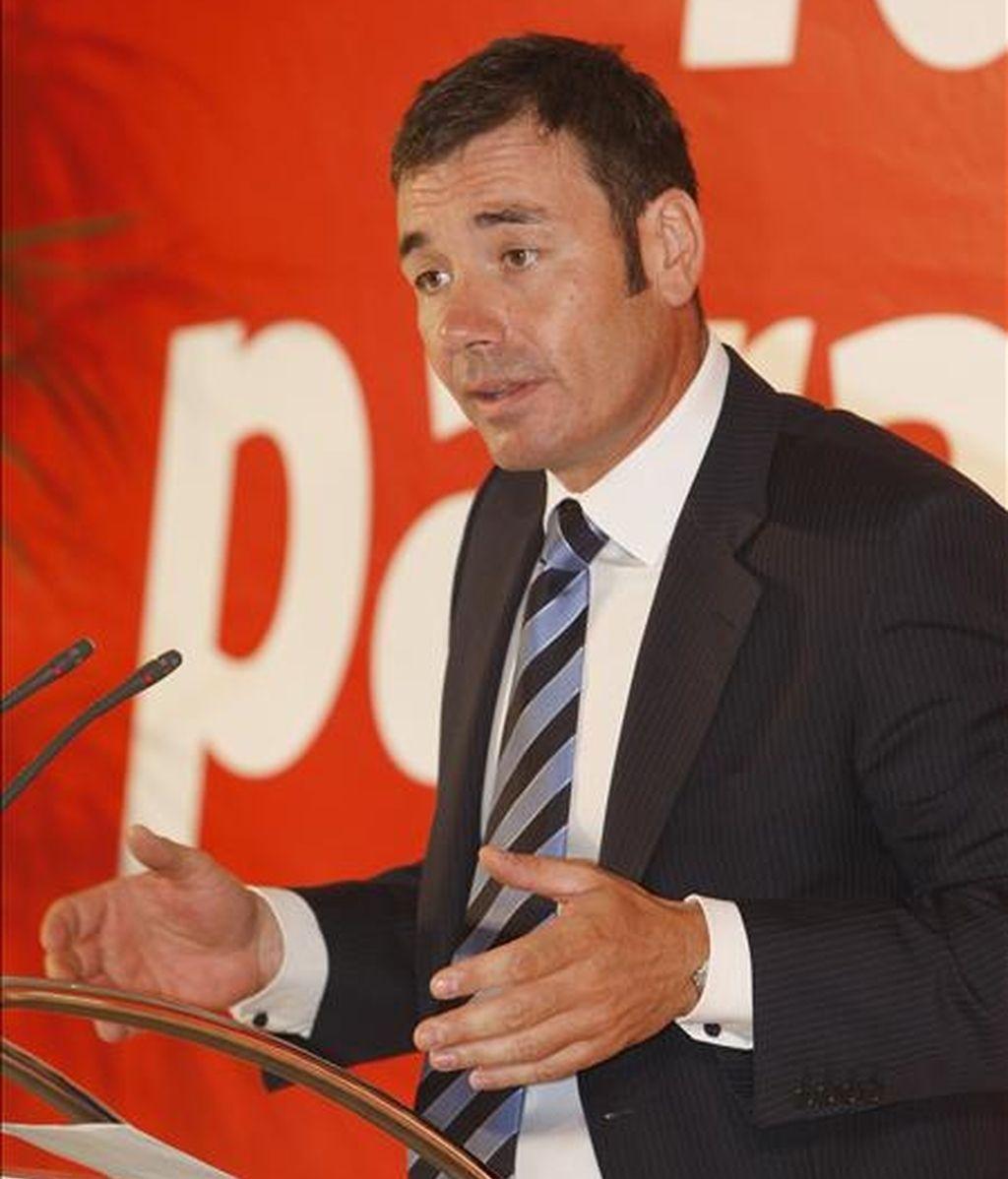 El secretario general del PSM, Tomás Gómez, durante una comparecencia. EFE/Archivo