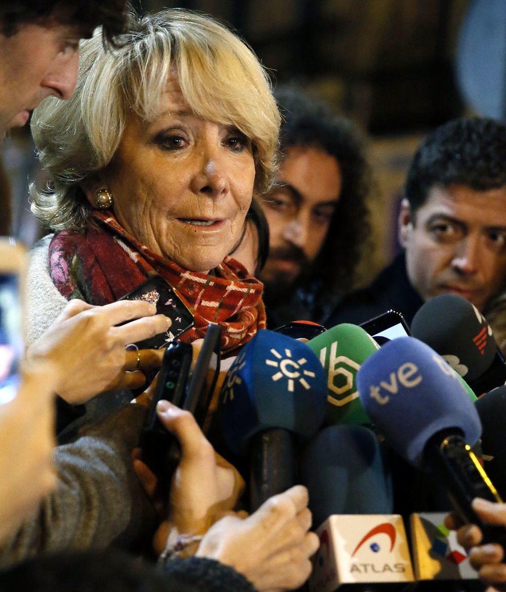 Las explicaciones de Aguirre tras los resgistros en la sede del PP de Madrid
