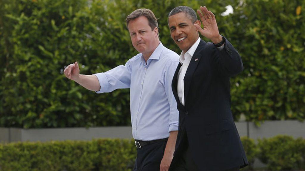 Barack Obama llega al G8