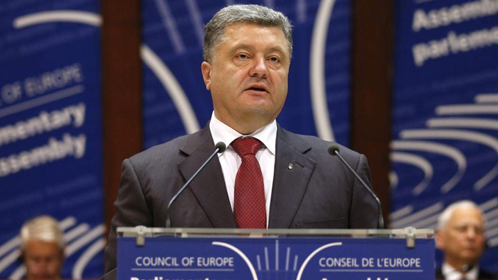 Visita del Presidente ucraniano al Consejo de EuropaPoroshenko