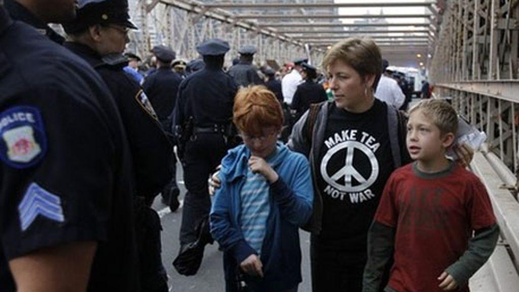 La policía alega que invadieron la calzada