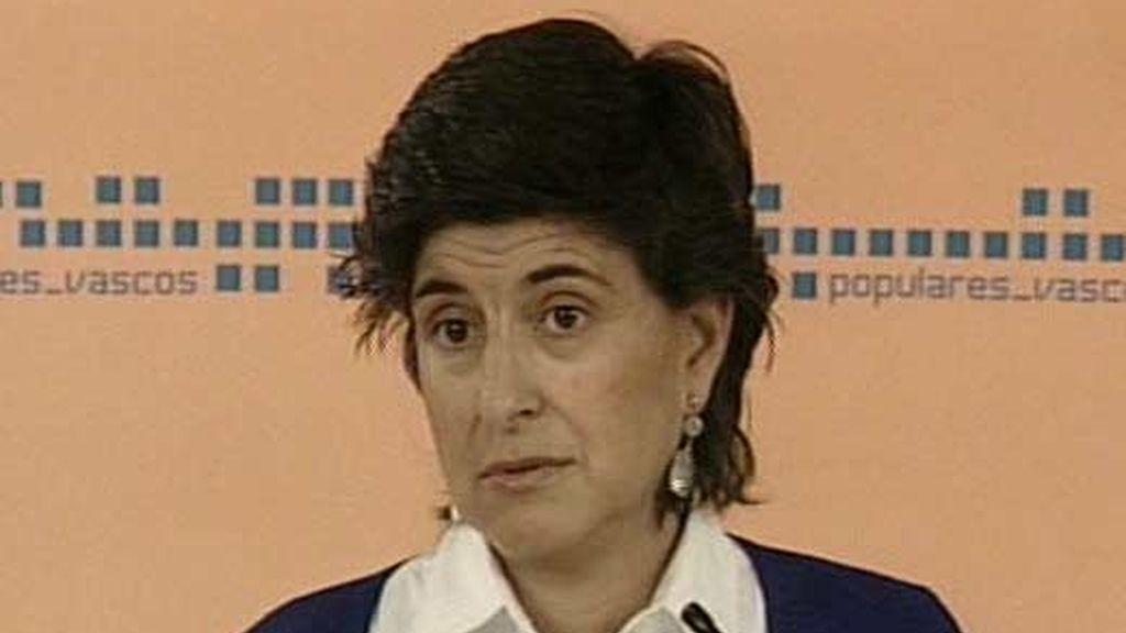 Imagen de archivo de la líder del PP vasco, María San Gil. Foto: ATLAS