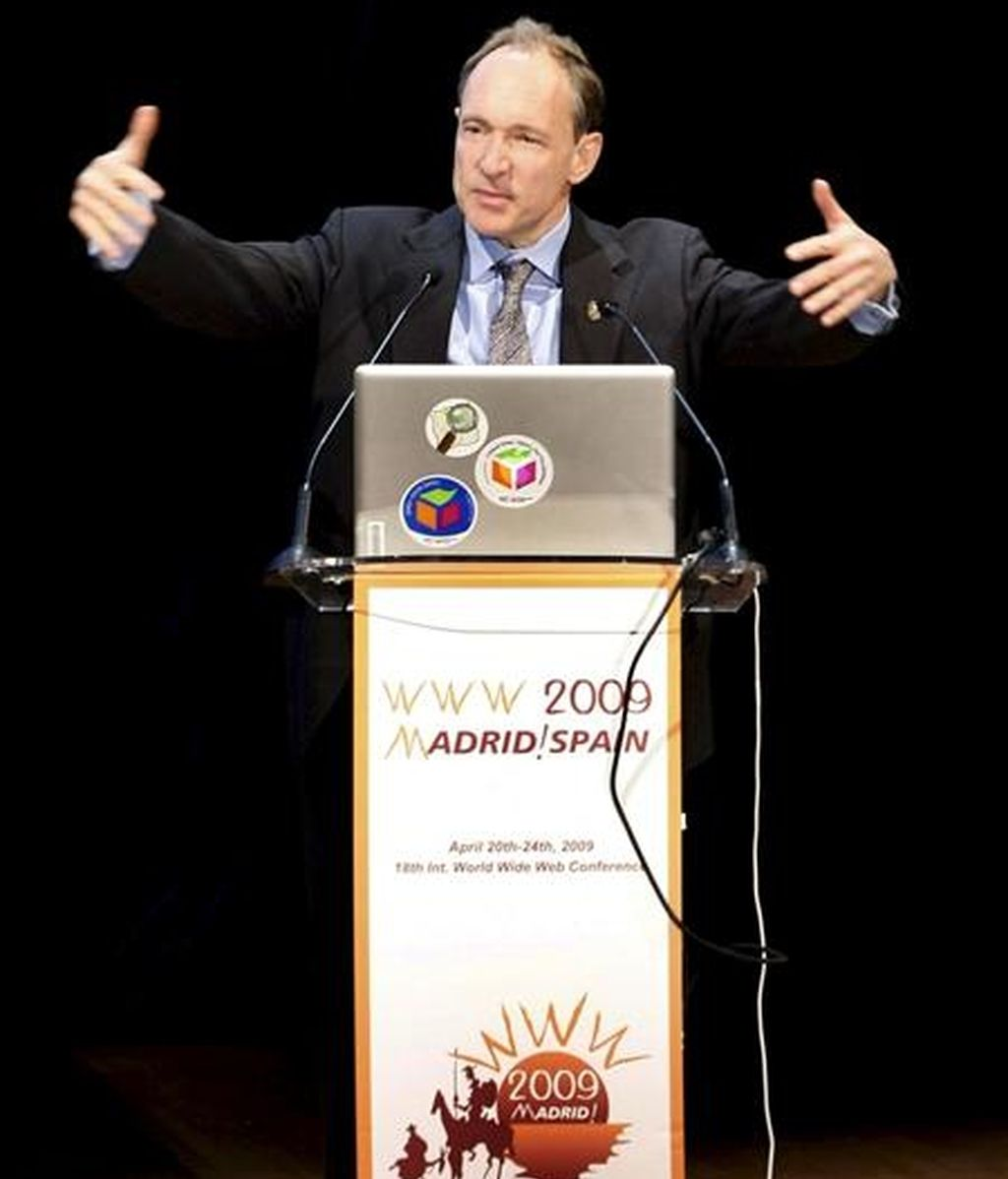 Tim Berners-Lee, inventor de la web, durante su intervención en el 18 Congreso Internacional World Wide Web (WWW2009). EFE/Archivo