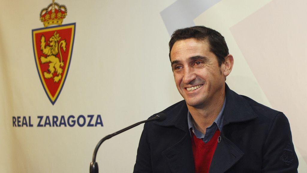 Manolo Jiménez, nuevo entrenador del Real Zaragoza, durante su presentación