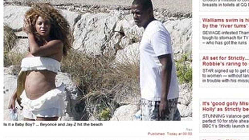 Beyoncé luce embarazo en bikini
