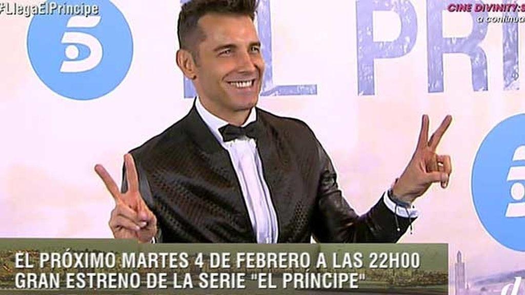 Jesús Vázquez, presentador de la premiere, con pantalones de Gucci