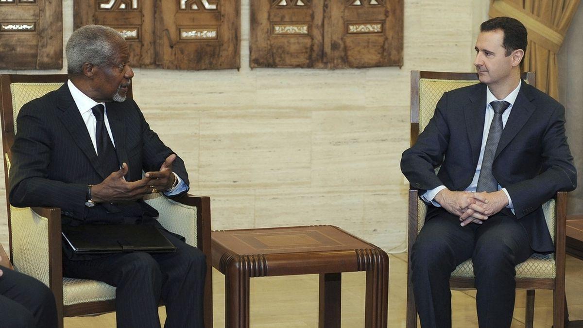 Annan se reúne en Damasco