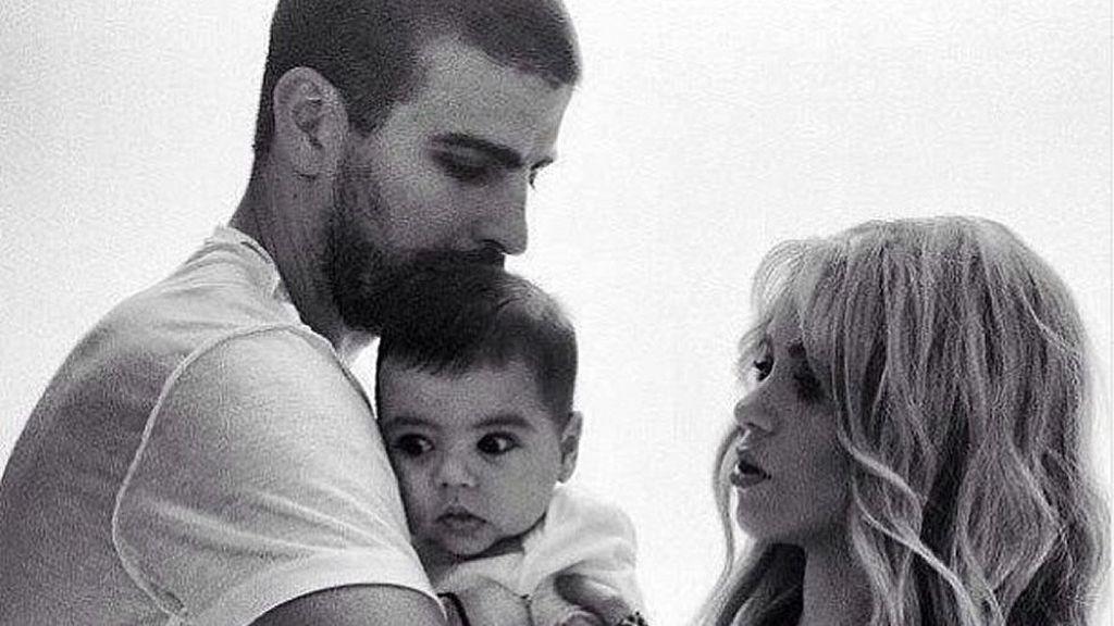 Foto de familia: Piqué Shakira y Milan