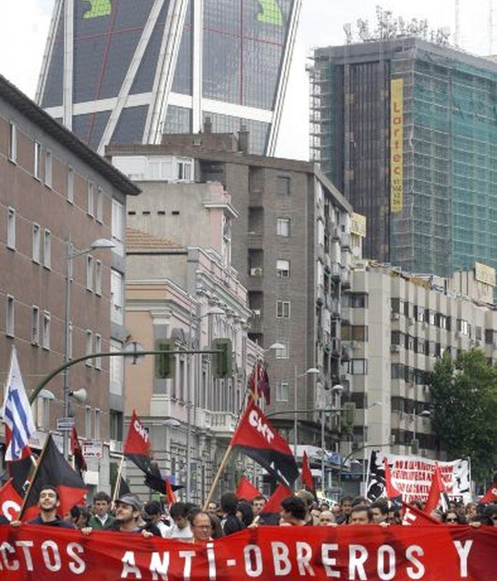 Manifestación del sindicato CNT en Madrid