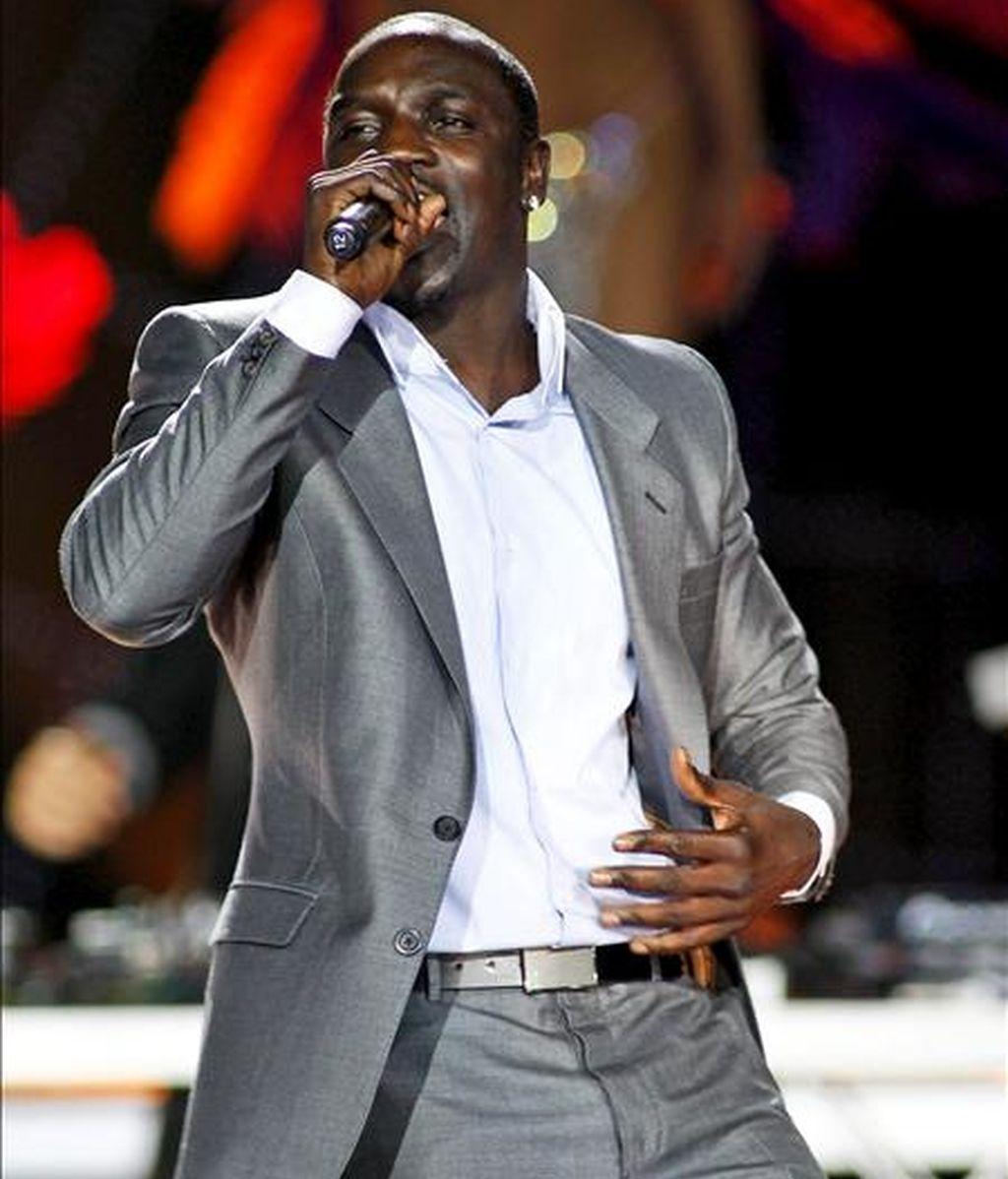 El cantante senegalés Alioune Badara Thiam, más conocido como Akon, nacionalizado estadounidense, ha sido nombrado embajador itinerante de Senegal. EFE/Archivo
