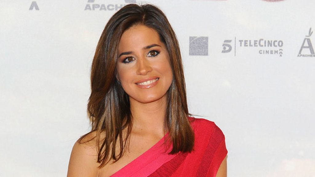 Isabel Jiménez, radiante en el photocall