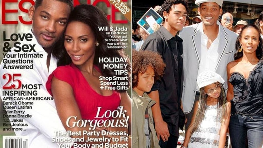 Los tres hijos de Will Smith: Trey, Jaden y Willow