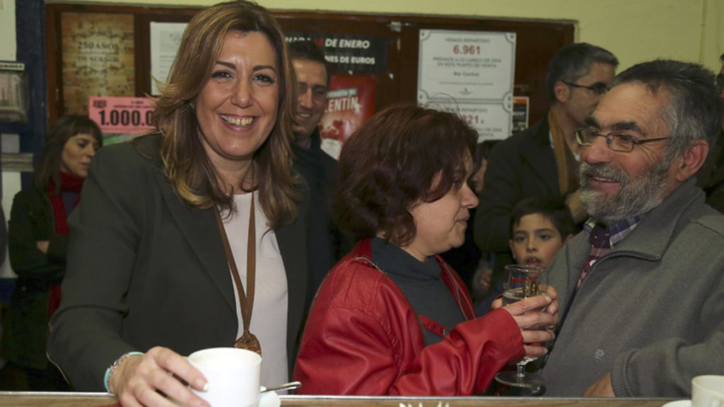 Susana Díaz visita Banamaurel