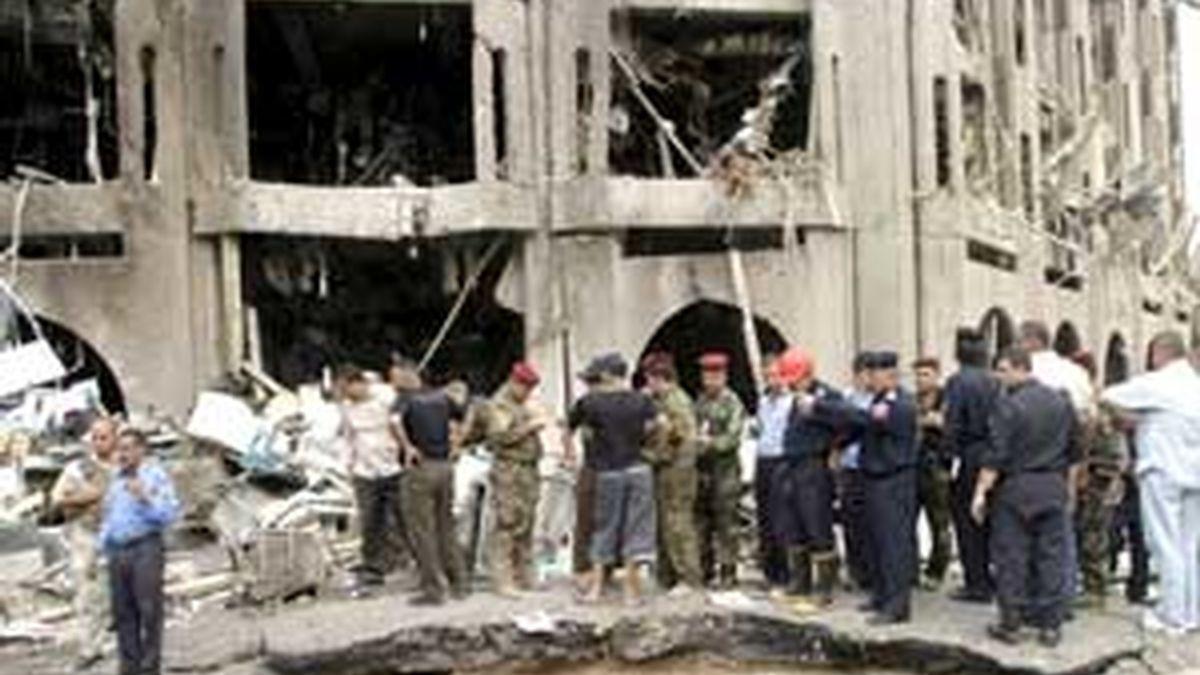 Imágenes de la explosión junto al Ministerio de Justicia iraquí. Video: ATLAS.