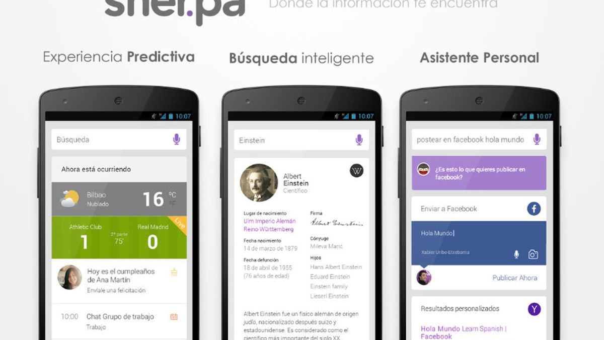 Sherpa Next,asistente personal,motor de búsqueda,capacidades predictivas