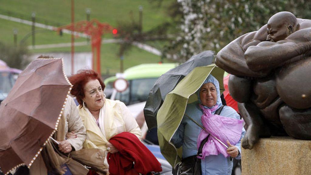 Lluvias y viento en  A Coruña