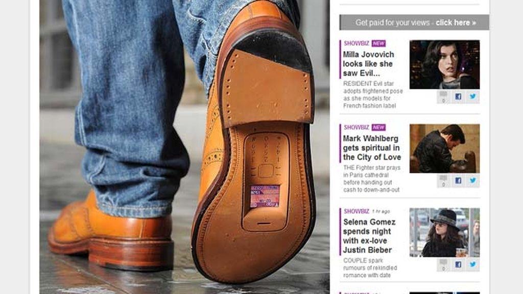 Zapatos teléfono