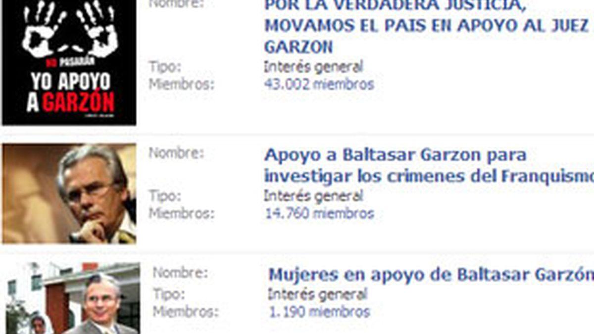 Numerosos grupos en Facebook se crean para mostrar su apoyo la juez Garzón. Foto: Facebook.