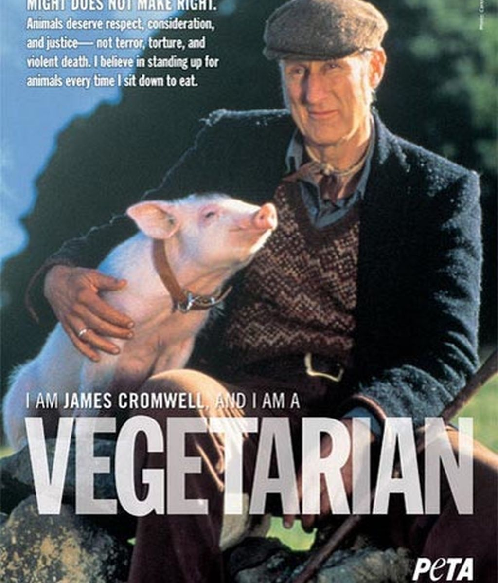 James Cromwell con los animales