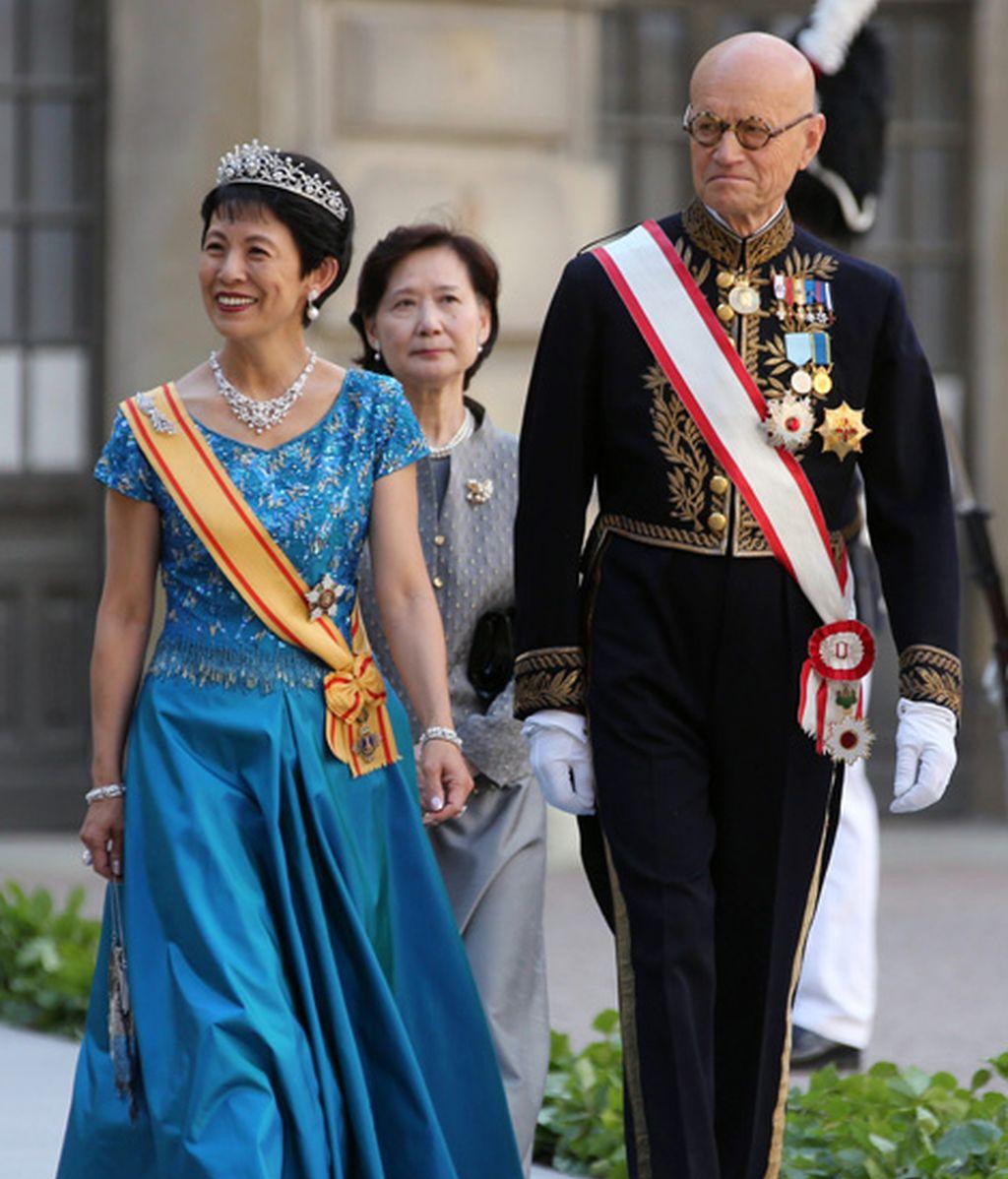 La princesa Hisako Takamado y el príncipe de Japón