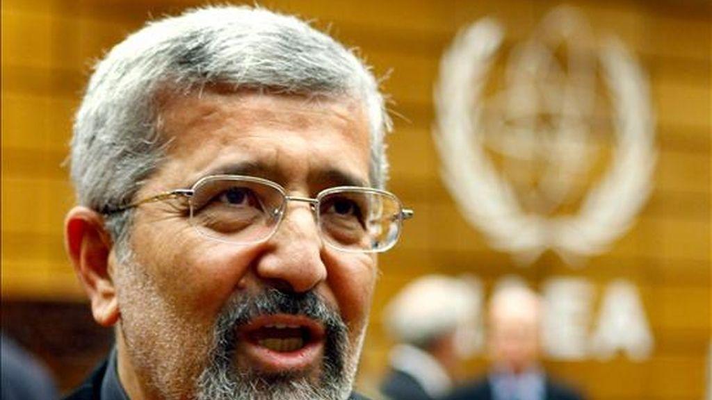 El embajador de Irán ante el Organismo Internacional de la Energía Atómica, Ali Ashgar Soltanieh. EFE/Archivo