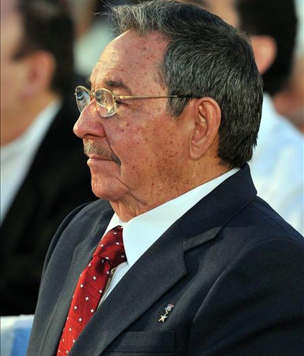 El presidente cubano, el general Raúl Castro, asiste el pasado mes de febrero a la inauguración de la XVIII Feria Internacional del Libro de La Habana. EFE/Archivo