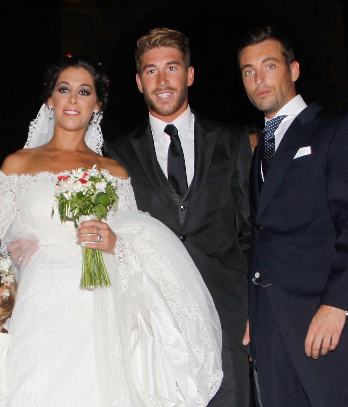 Sergio Ramos en la boda de su hermana Miriam