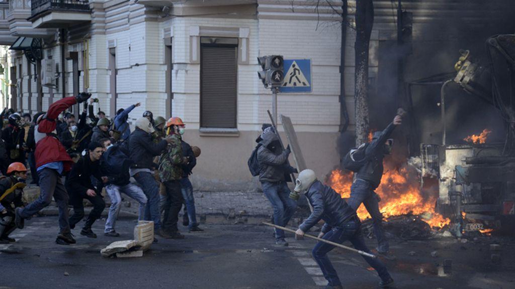 La violencia vuelve a las calles de Ucrania