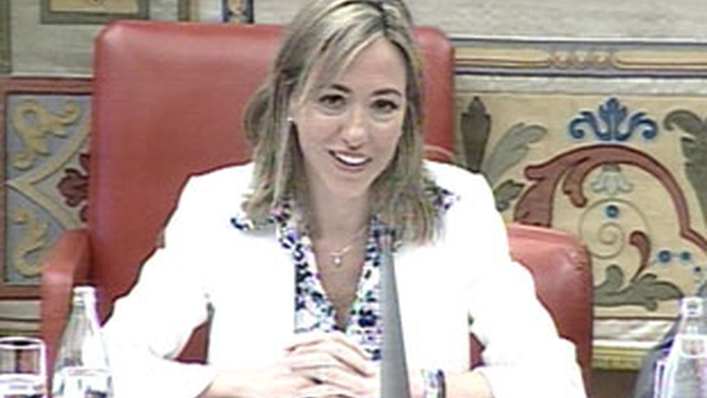 Carme Chacón, durante la Comisión de Defensa en el Congreso. Vídeo: Informativos Telecinco.