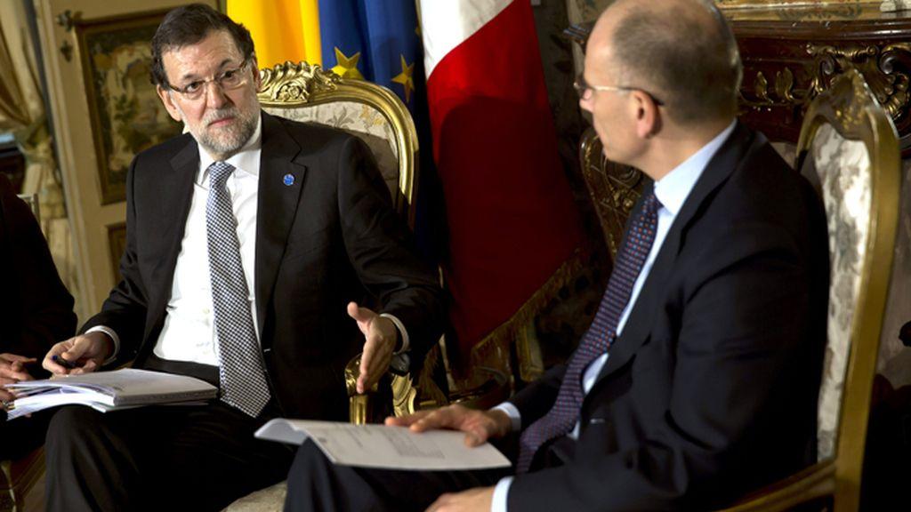 Rajoy y Letta presiden la Cumbre Italo-Española