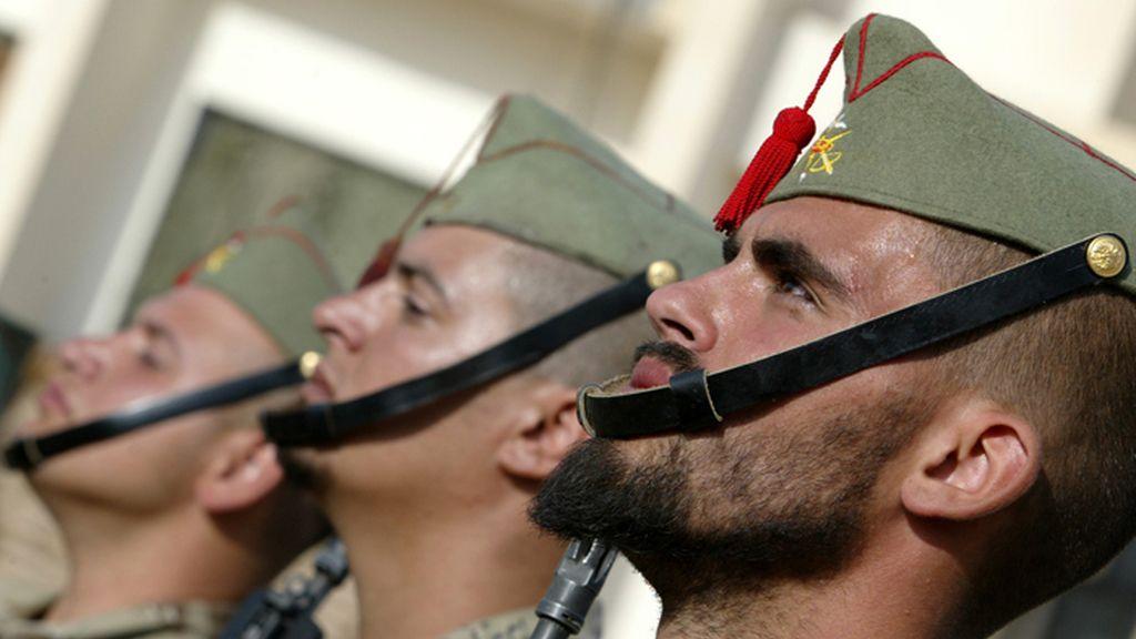 Legionarios españoles en la ciudad iraquí de Nayaf