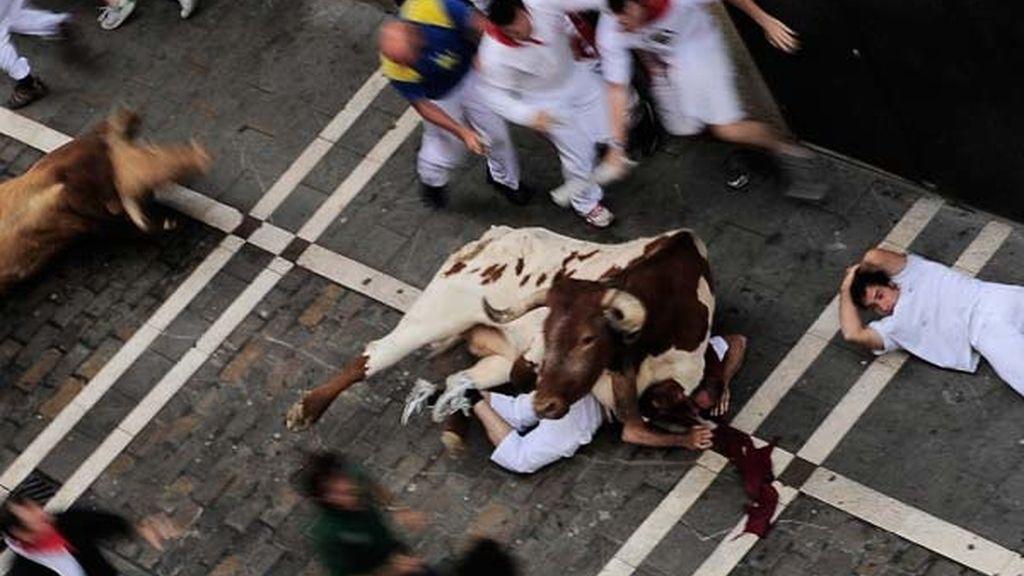 Arrollado por un toro
