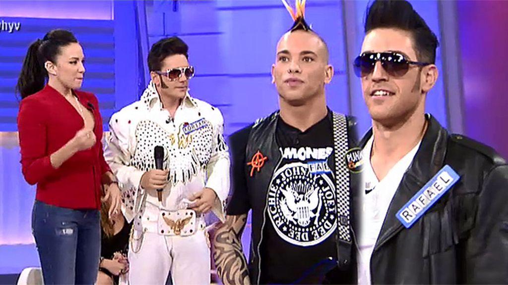 Rockeros: Adrián, Rafael y Fabio