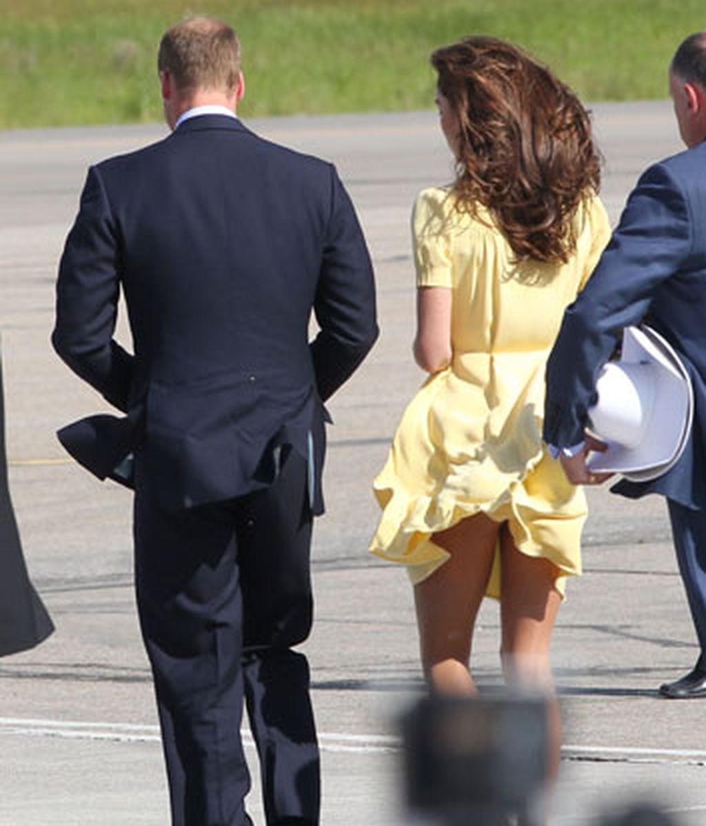El viento juega una mala pasada a Kate