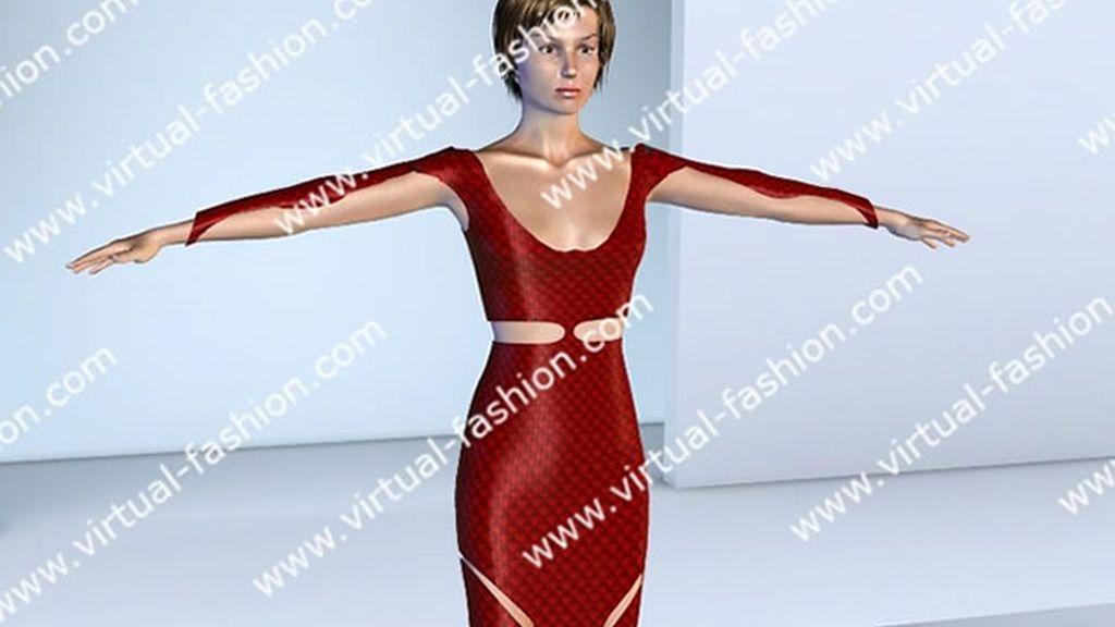 Vestido 3D Rojo