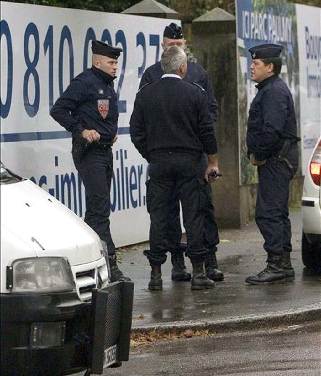 Un grupo de gendarmes franceses. EFE/Archivo