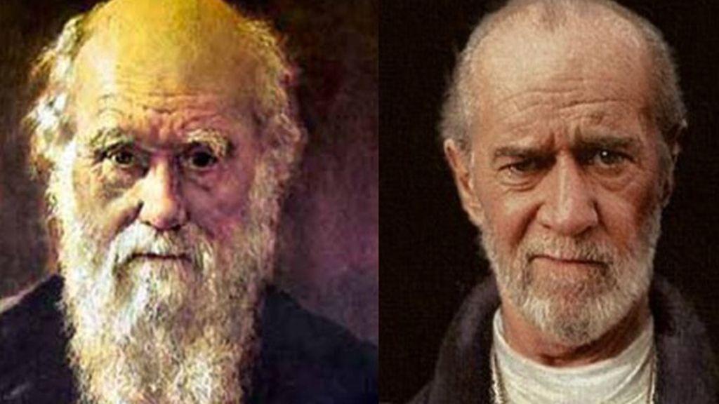 Charles Darwin y George Carlin