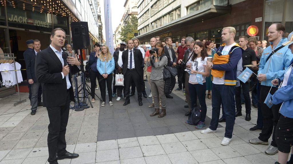 El miembro del Partido Moderado (conservador) y ministro de Hacienda sueco, Anders Borg