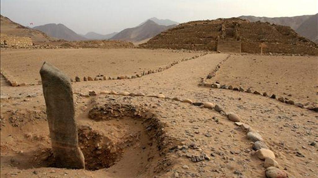 Panorámica de una de las pirámides de Caral. EFE/Archivo