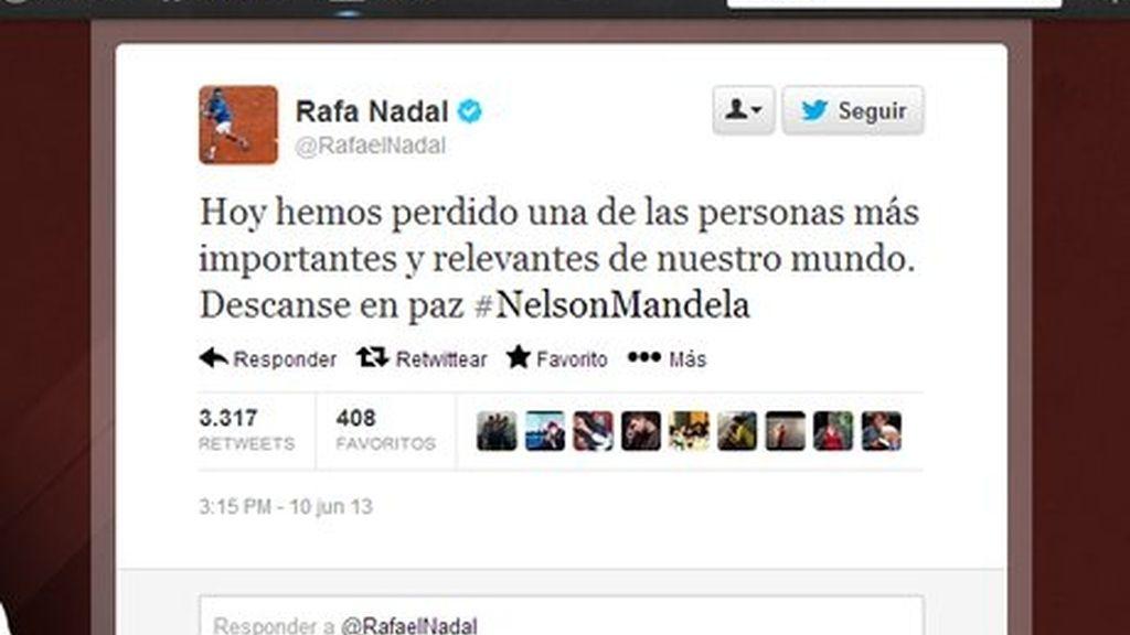 Nadal 'mata' a Nelson Mandela en Twitter