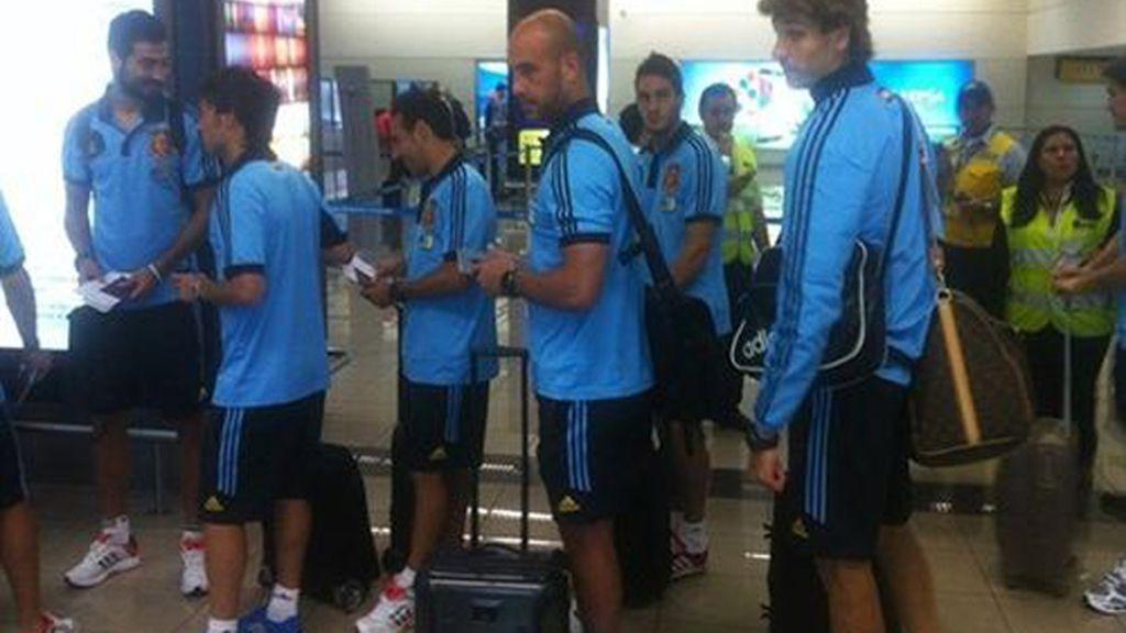 La selección española de fútbol llega a Guayaquil