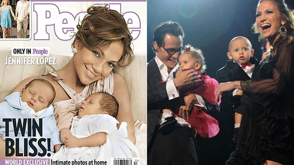 Los gemelos de Jennifer López y Marc Anthony: Max y Emme