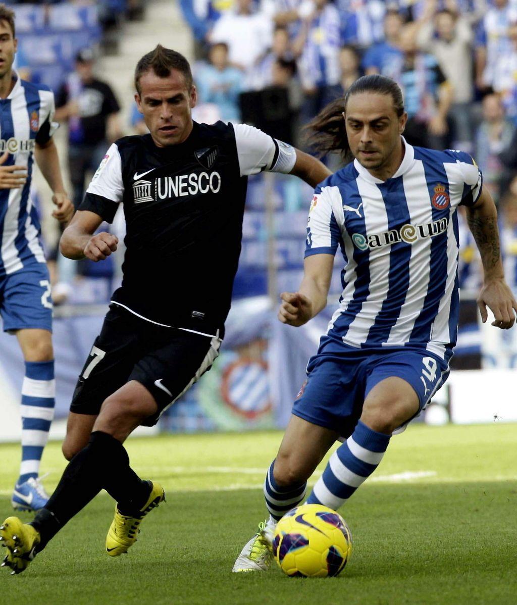 El Espanyol y el Málaga se enfrentan en Cornellá. Foto: EFE.